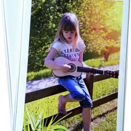 Album Porta Foto Unicolor Seta con tasca