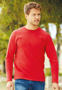 T-shirt Valueweight Uomo manica lunga – Colorata