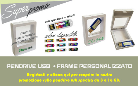 Promozione Pendrive USB Spectra + Frame personalizzato