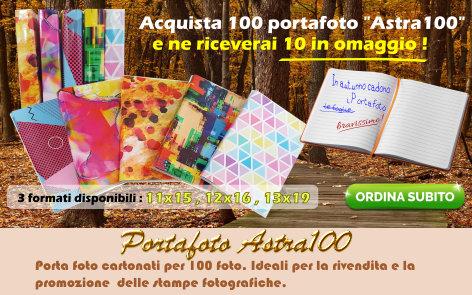 Promozione autunnale portafoto Astra 100: Ogni 100 pezzi di portafoto acquistati, in regalo altri 10 dello stesso formato