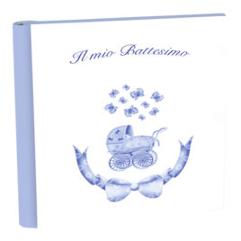 Album Battesimo Passeggino Azzurro