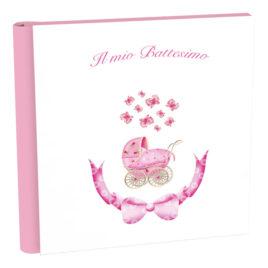 Album Battesimo Passeggino Rosa