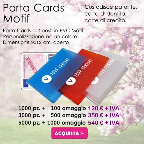 Promozione Porta Cards Motif Primavera 2021